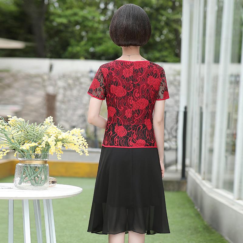 9533 时尚韩版中年妈妈装两件套装外 夏新款女装外套 2019