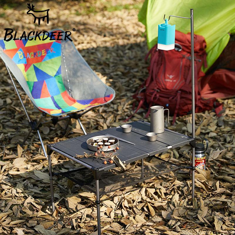 黑鹿户外用品折叠桌野外露营野餐桌自驾游轻量化铝合金便携小桌子