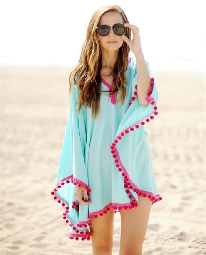 歐美海灘渡假沙灘裙性感比基尼泳衣罩衫寬鬆流蘇斗篷式罩裙女包郵