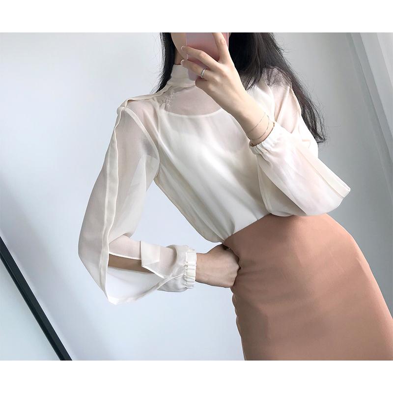 现货金秘书那样朴敏英同款粉色系衬衫+半身裙包裙职业套装女
