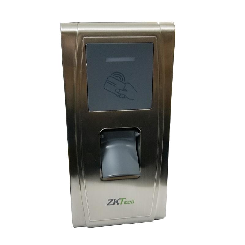 室外门禁锁考室 刷卡门禁考勤一体机 金属户外防水指纹 MA300 中控