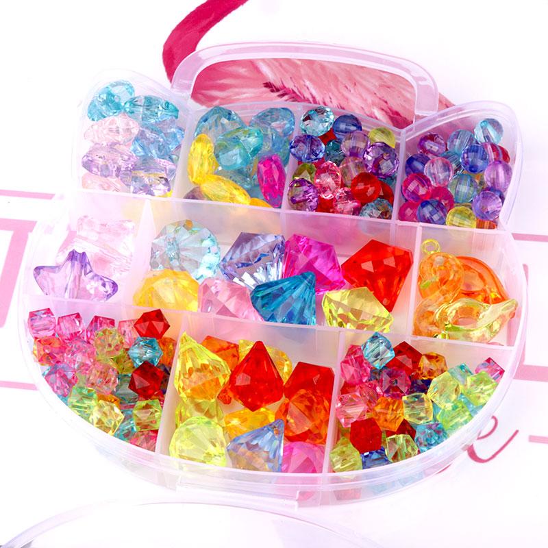 儿童宝石亚克力水晶串海盗珠宝箱玩具男女小孩过家家礼物饰品包邮