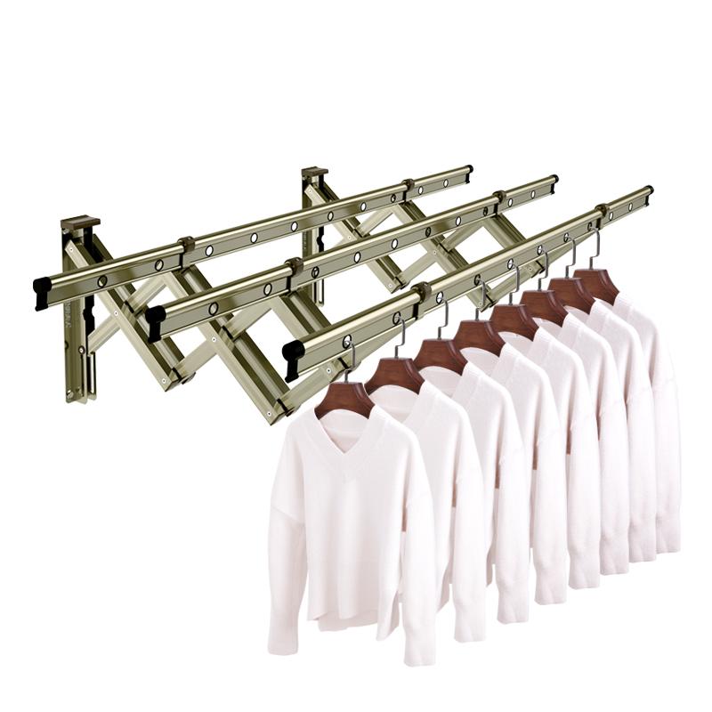 金贵夫人阳台折叠晾衣架户外伸缩晒衣架家用推拉式窗外室外凉衣杆
