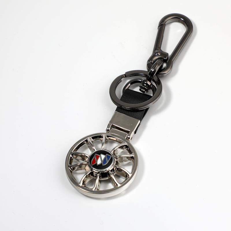 汽车钥匙扣轮毂钥匙链男士车钥匙挂件 双面车标创意送男友礼物
