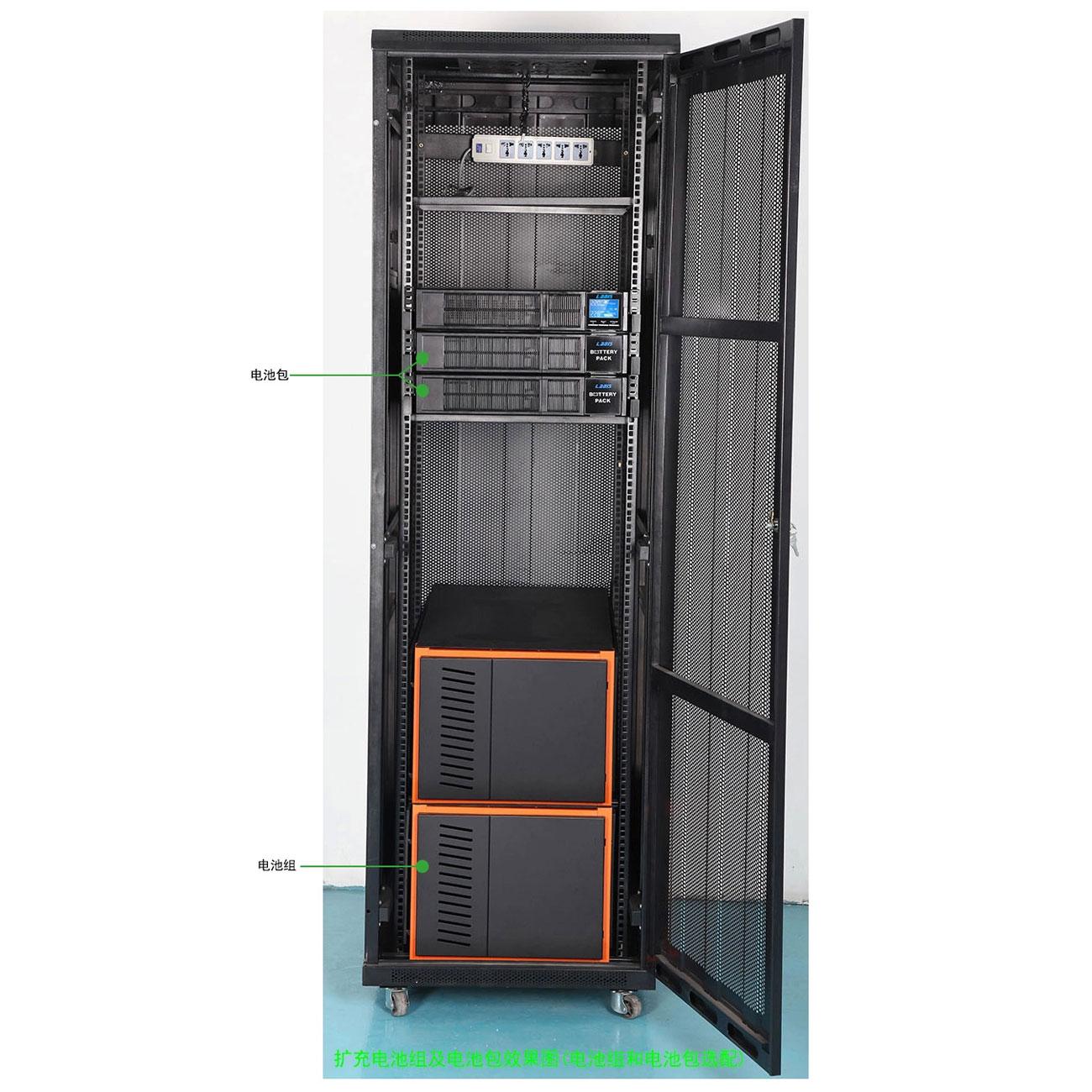 雷迪司GR6KL机架式UPS电源长延时主机外接电池192V DC 6KVA 4800W