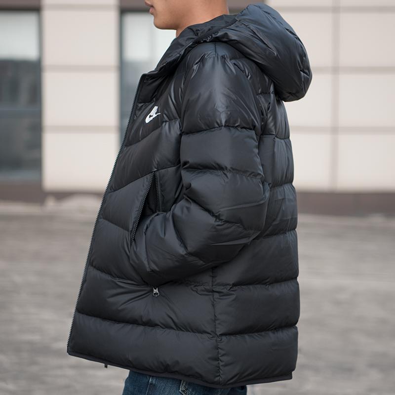 耐克男装2019冬季新款运动连帽羽绒服休闲保暖夹克外套928834-010高清大图