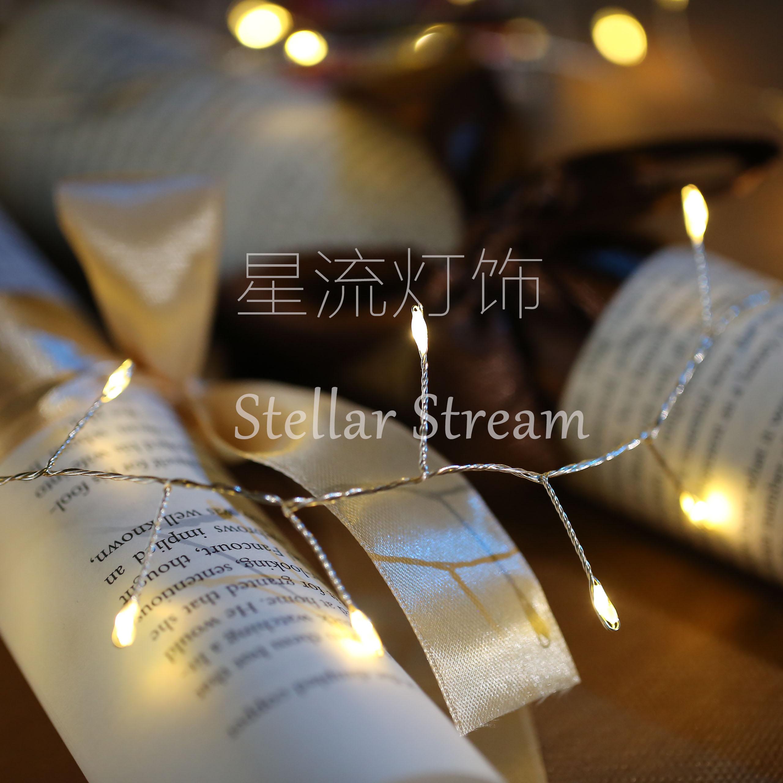 铜线灯 LED彩灯闪灯串灯满天星装饰灯米粒灯婚庆布置宿舍电池防水