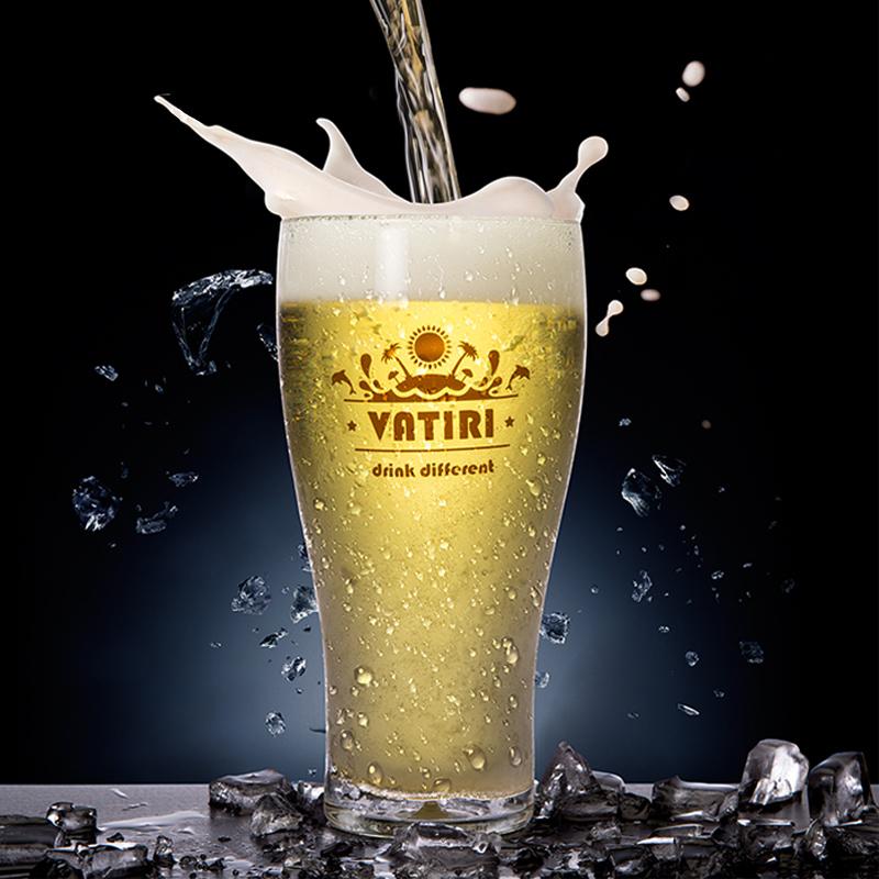vatiri樂怡2019創意水杯啤酒杯大杯子奶茶果汁冷飲可口可樂玻璃杯