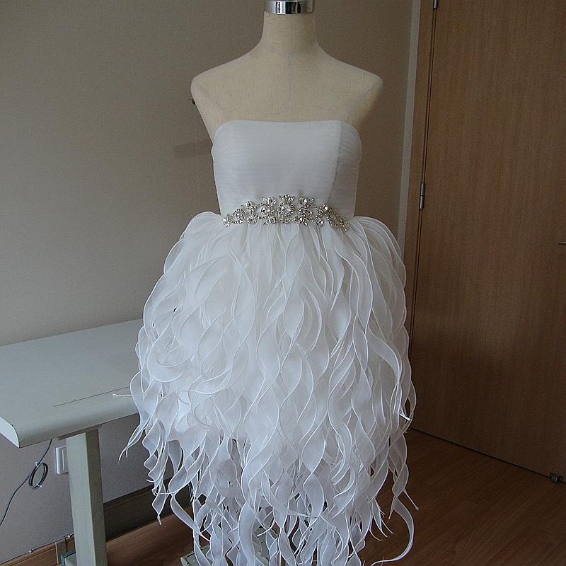 前短后长韩版短款修身显瘦生日宴会晚装礼服裙新娘婚纱结婚敬酒服