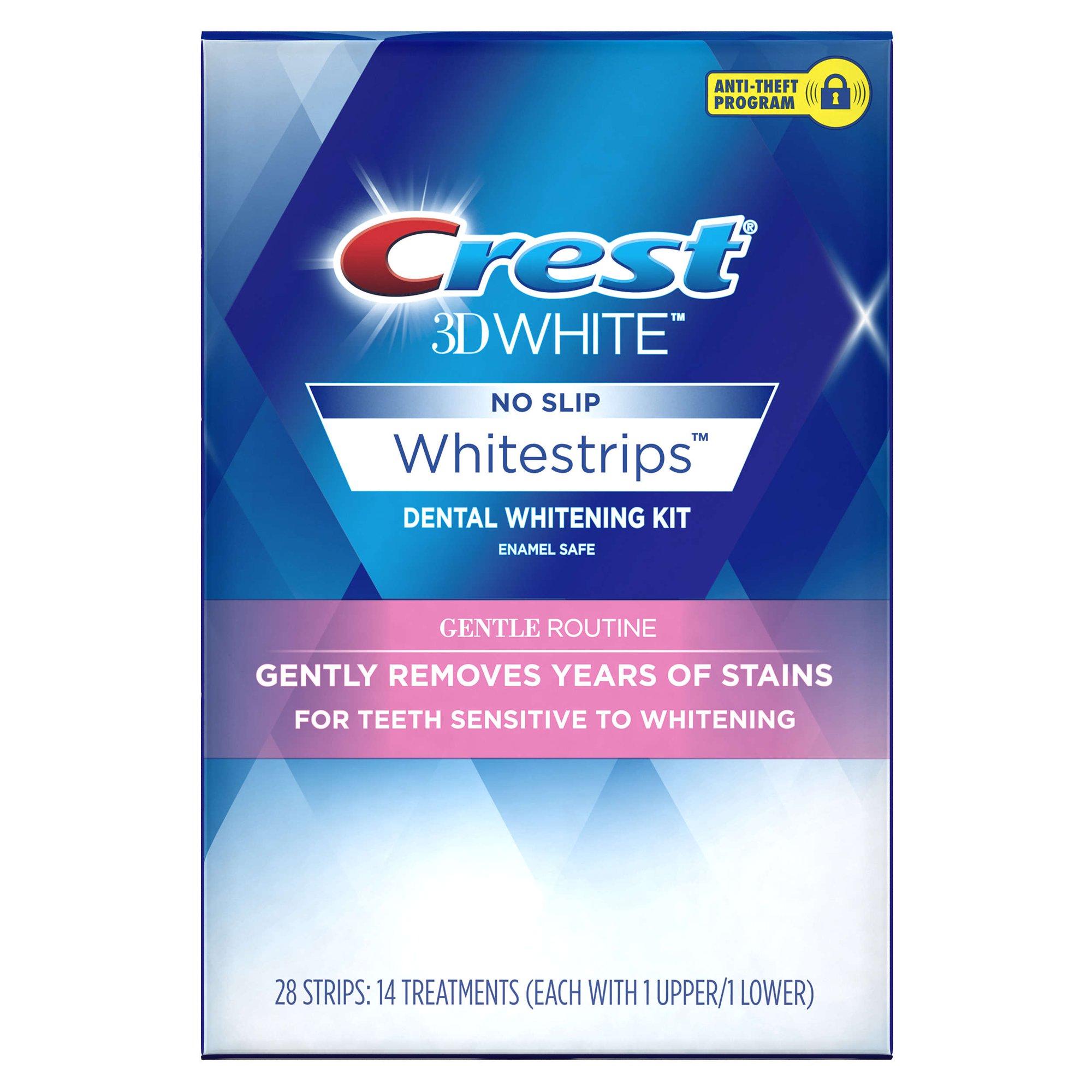 牙医家佳洁士美白牙贴美国版3d white炫白去黄温和型牙齿贴片14对