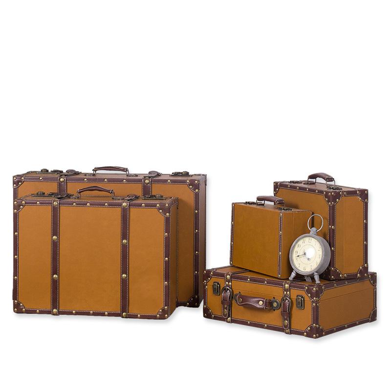 复古手提箱定制箱子旅行箱橱窗软装展示箱木箱陈列道具皮