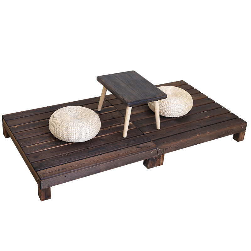 户外榻榻米防腐木平台地板庭院阳台碳化实木屋凉亭木制花园坪台