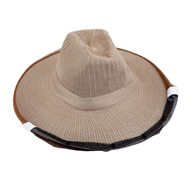 防蜂帽养蜂网纱透气型加厚蜂冒养蜜蜂面网收捕峰帽子