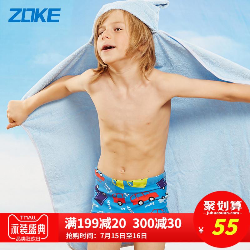 洲克兒童泳褲小男孩卡通汽車人中大童寶寶可愛動漫平角男童游泳褲