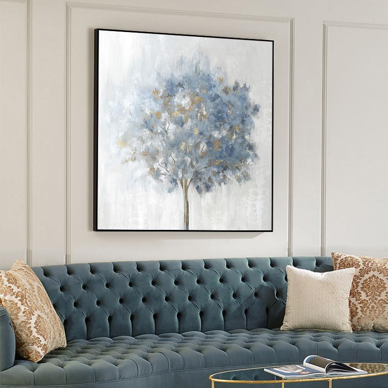 純手繪油畫現代簡約抽象裝飾畫輕奢北歐風格客廳玄關臥室餐廳掛畫