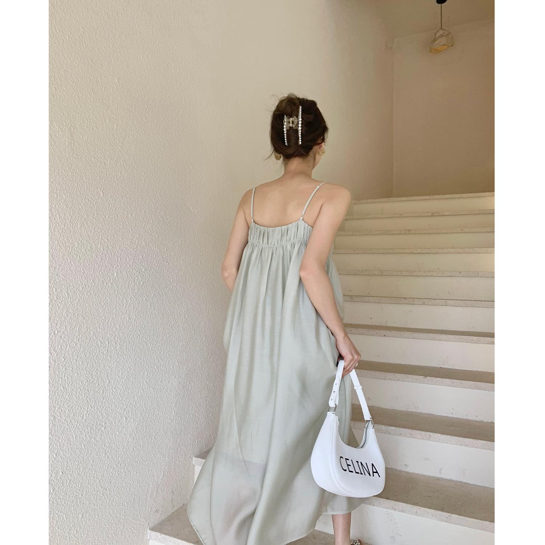 ICELOLLY 显瘦垂感天丝中长款吊带裙子夏天连衣裙春夏2021年新款
