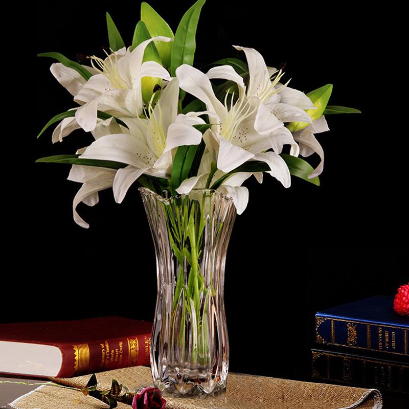 富贵竹花瓶玻璃透明网红摆件客厅插花百合水培养北欧创意现代简约