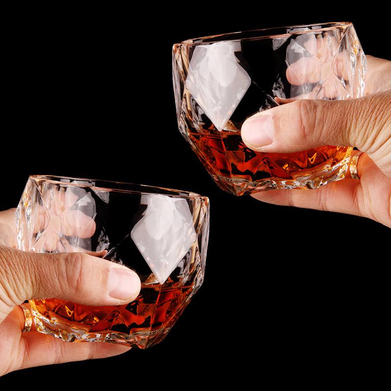 弗莱文茨水晶玻璃威士忌酒杯红酒杯玻璃杯