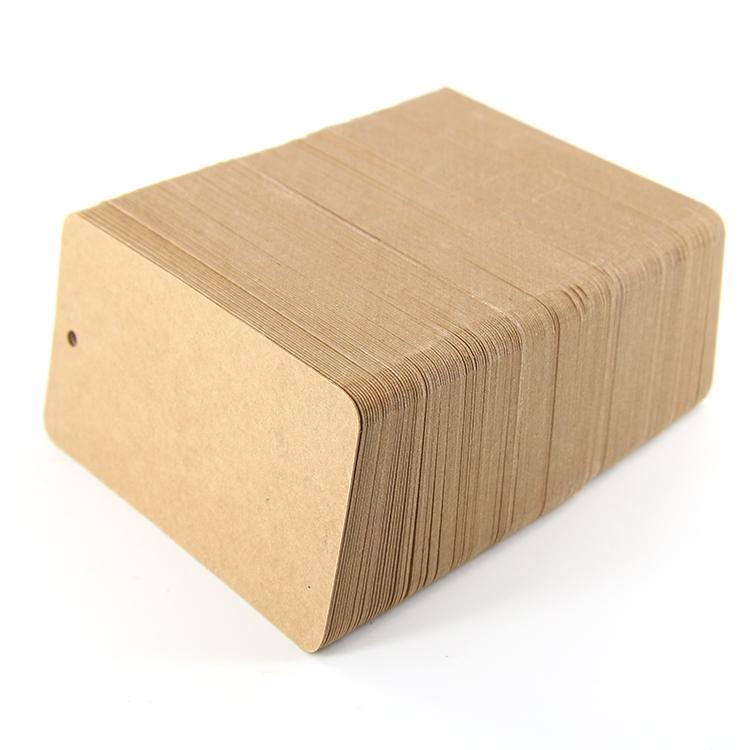 牛皮纸吊牌订做合格证印刷定制异形卡350g空白现货服装衣标签制作
