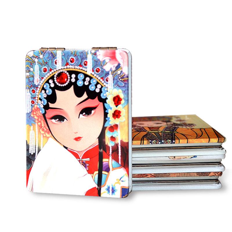 中国风特色出国外事小礼品送老外小礼物纪念品老北京京剧脸谱镜子