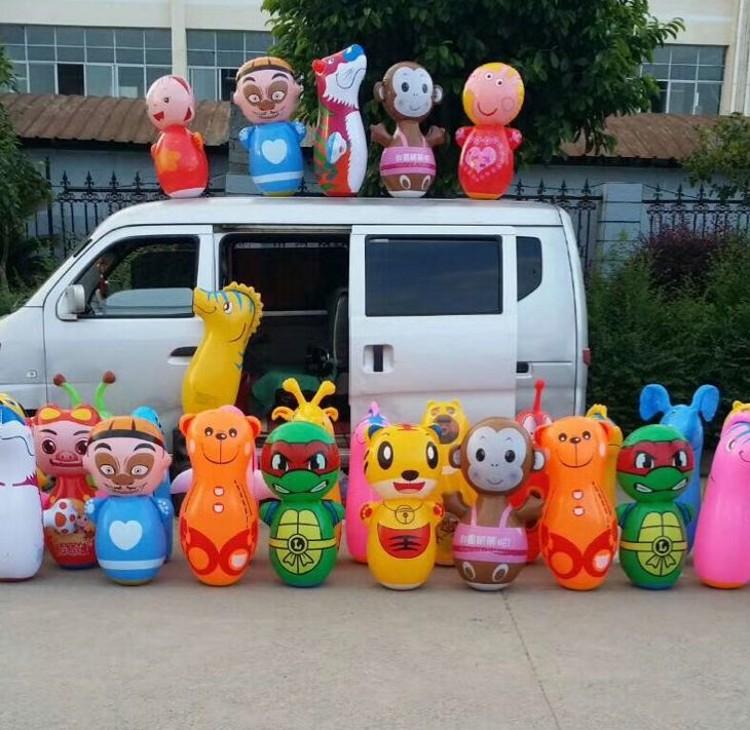 玩具充气大号不倒翁批发充气大号90cm不倒翁地摊玩具儿童充气PVC