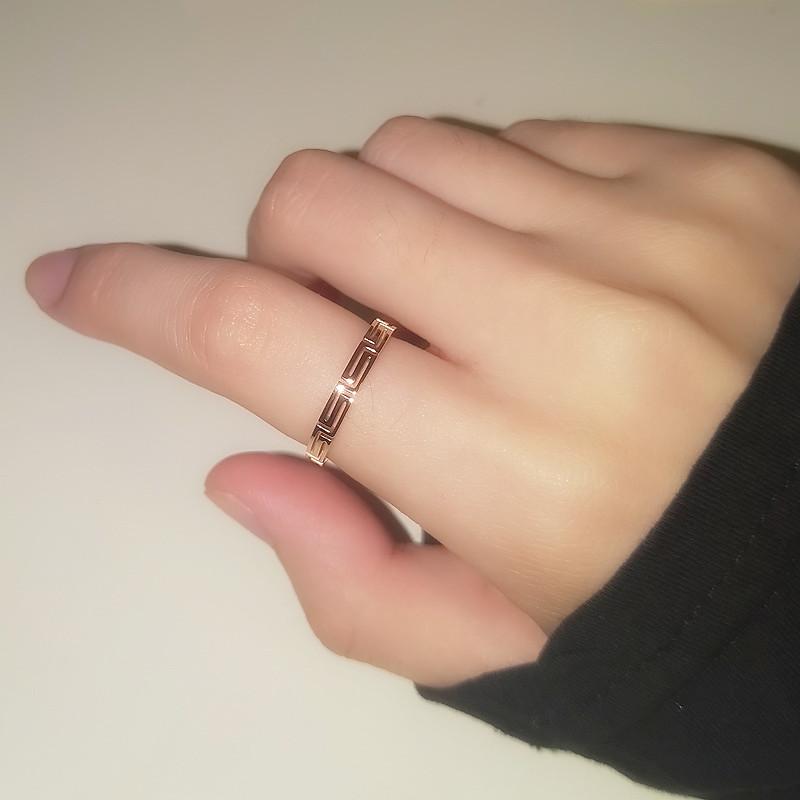 戒指女时尚个性ins潮网红钛钢不褪色少女超仙学生简约韩