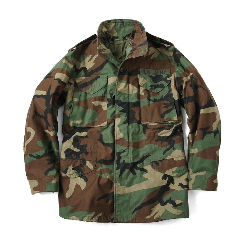 风衣夹克经典男式  四色丛林迷彩风衣作战服军迷长外套 BDU 美军版 M65