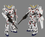 Full 68 Free shipping 3D paper models Hand-assembled diy Exquisite full version Unicorn Gundam