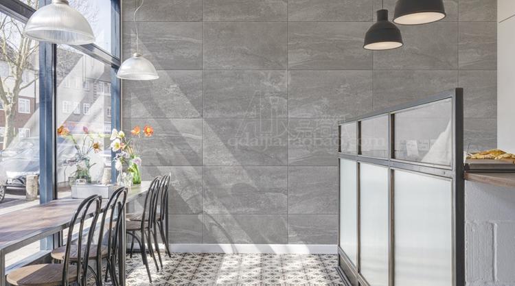 餐廳客廳背景墻壁紙 LOFT 韓國進口大卷北歐簡約水泥灰色格子墻紙