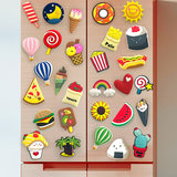 A set of refrigerator stickers Nordic ins decorative stickers cartoon cute creative magnetic magnet refrigerator magnet magnet