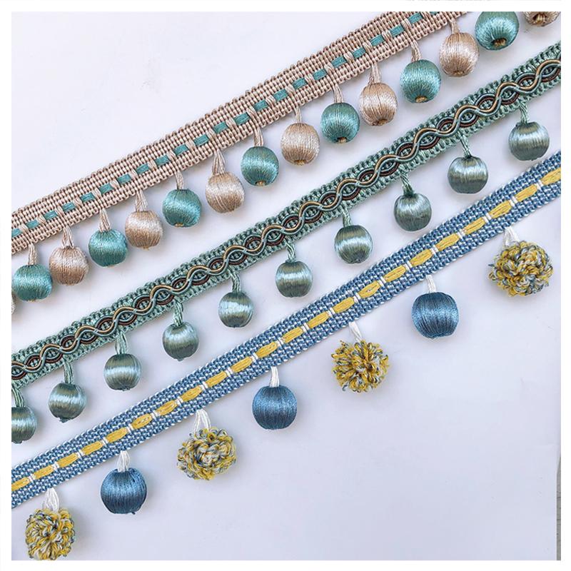 天河花边欧式人造包丝窗帘珠子花边吊穗坠原创辅料配件纺织手工品
