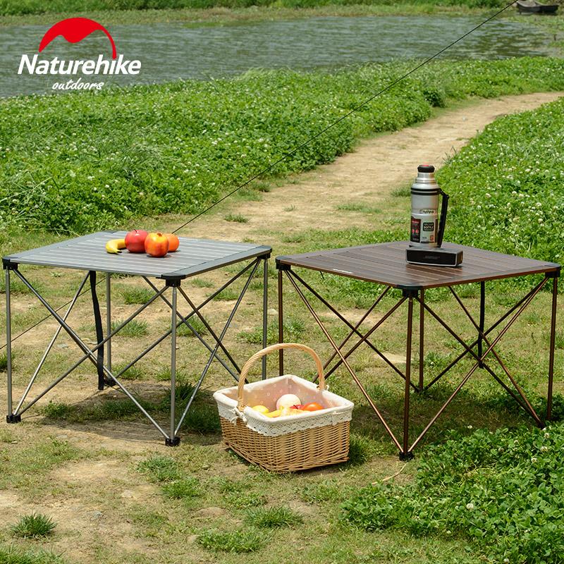 自驾游野外餐桌 铝合金折叠桌户外超轻便携式露营野餐桌椅 挪客 NH