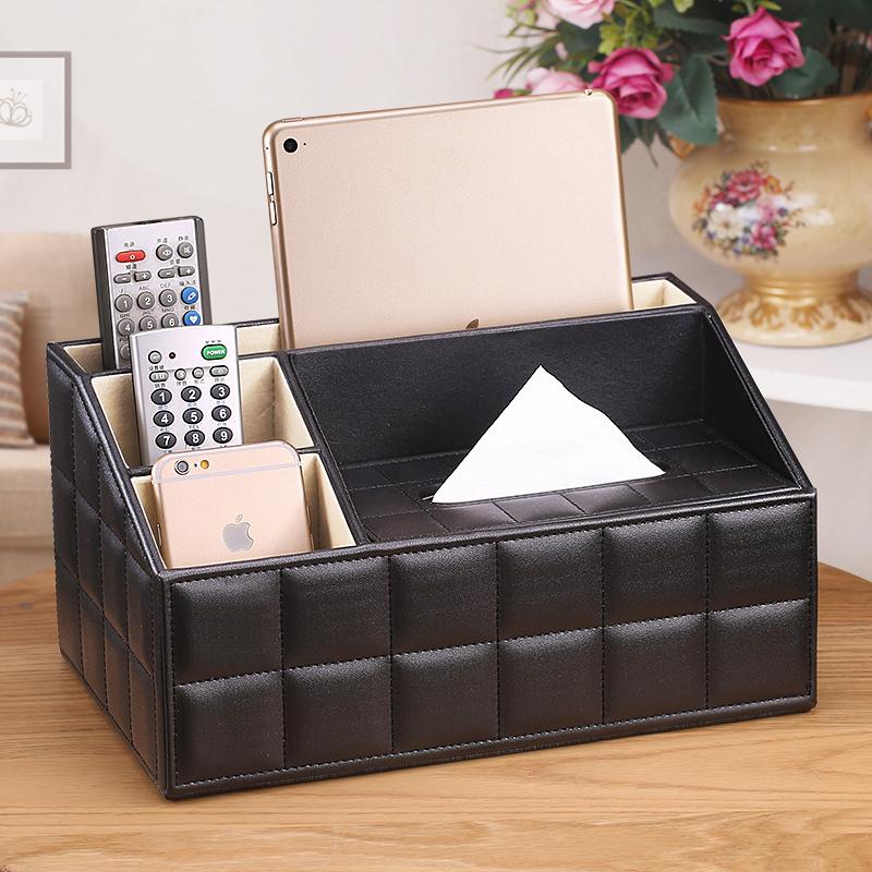 多功能紙巾盒客廳茶几抽紙遙控器收納盒創意簡約可愛家居家用歐式