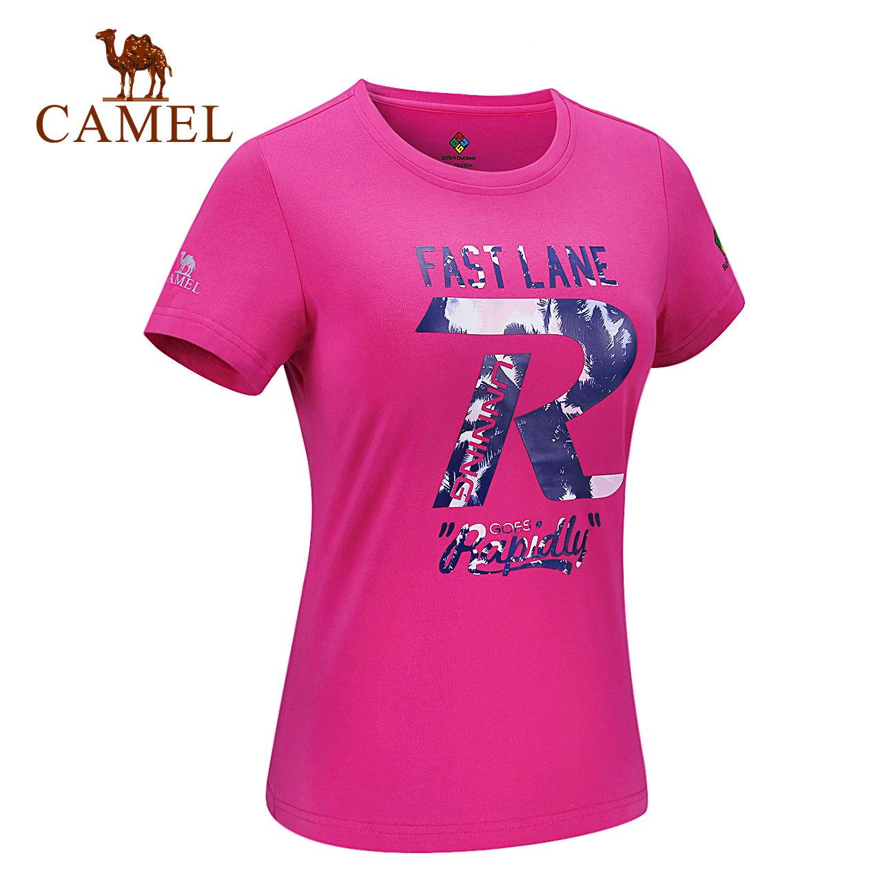 CAMEL骆驼&8264系列 户外休闲夏季圆领吸汗男女短袖T恤休闲上衣