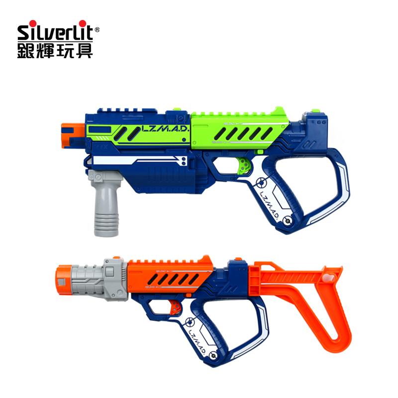 银辉仿真镭射红外线对战枪儿童绝地求生吃鸡套装男孩专用玩具装备