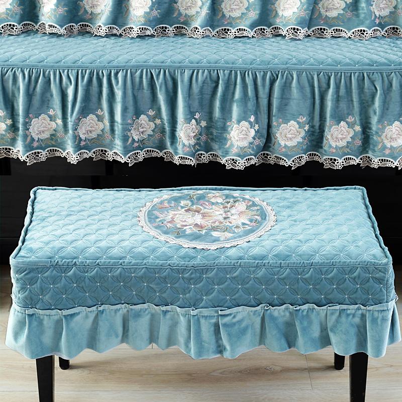 欧式加厚丝绒钢琴罩全罩三件套钢琴套防尘凳罩分体式半罩现代简约
