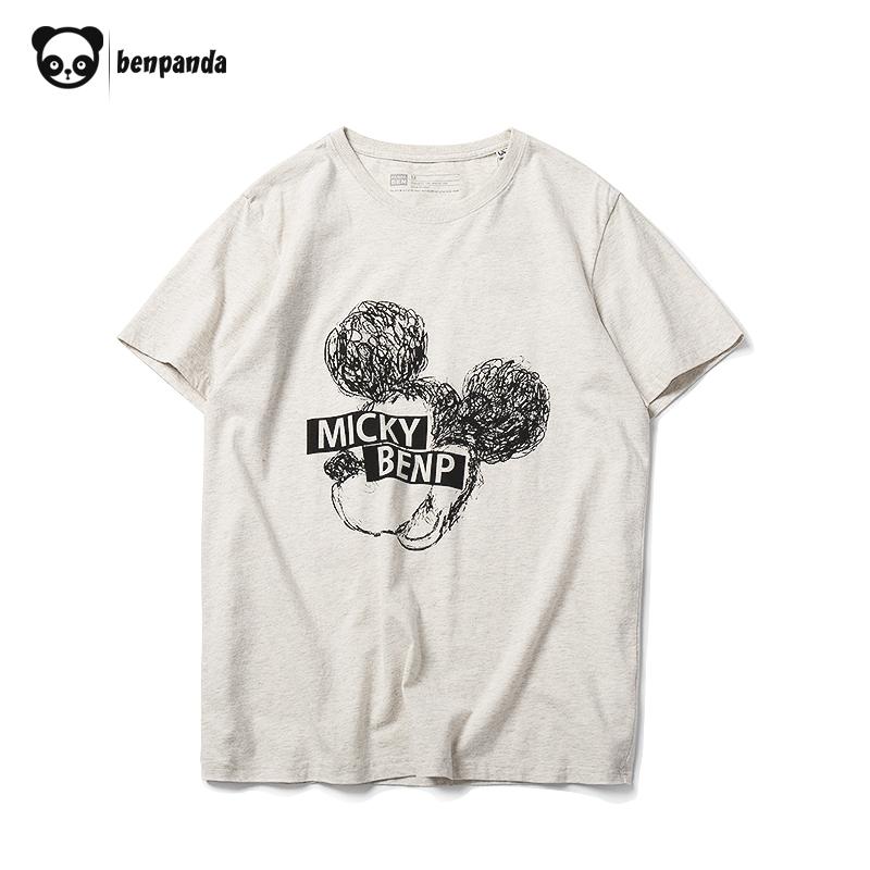 [淘寶網] 熊貓本 情侶短袖T恤印花夏季潮流寬鬆半袖純棉男卡通體恤卡通圖案