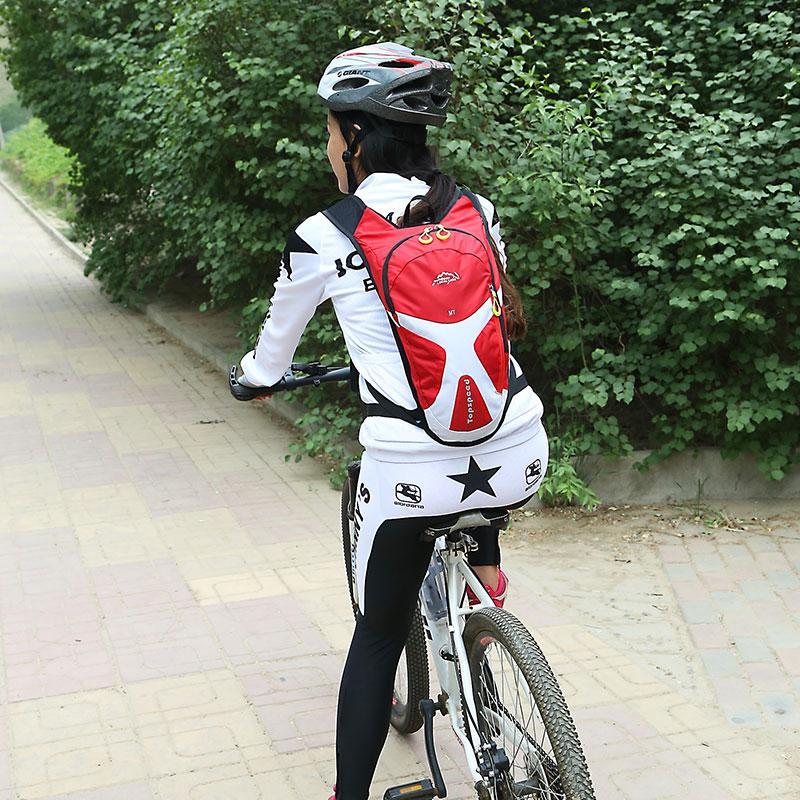 正品骑行背包双肩包男女徒步跑步运动包小号透气防水自行车装备包