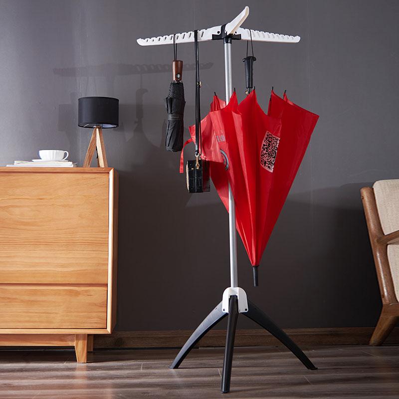 维卡简易晾衣架落地折叠室内三角形单杆式伸缩阳台小型凉衣架晒架
