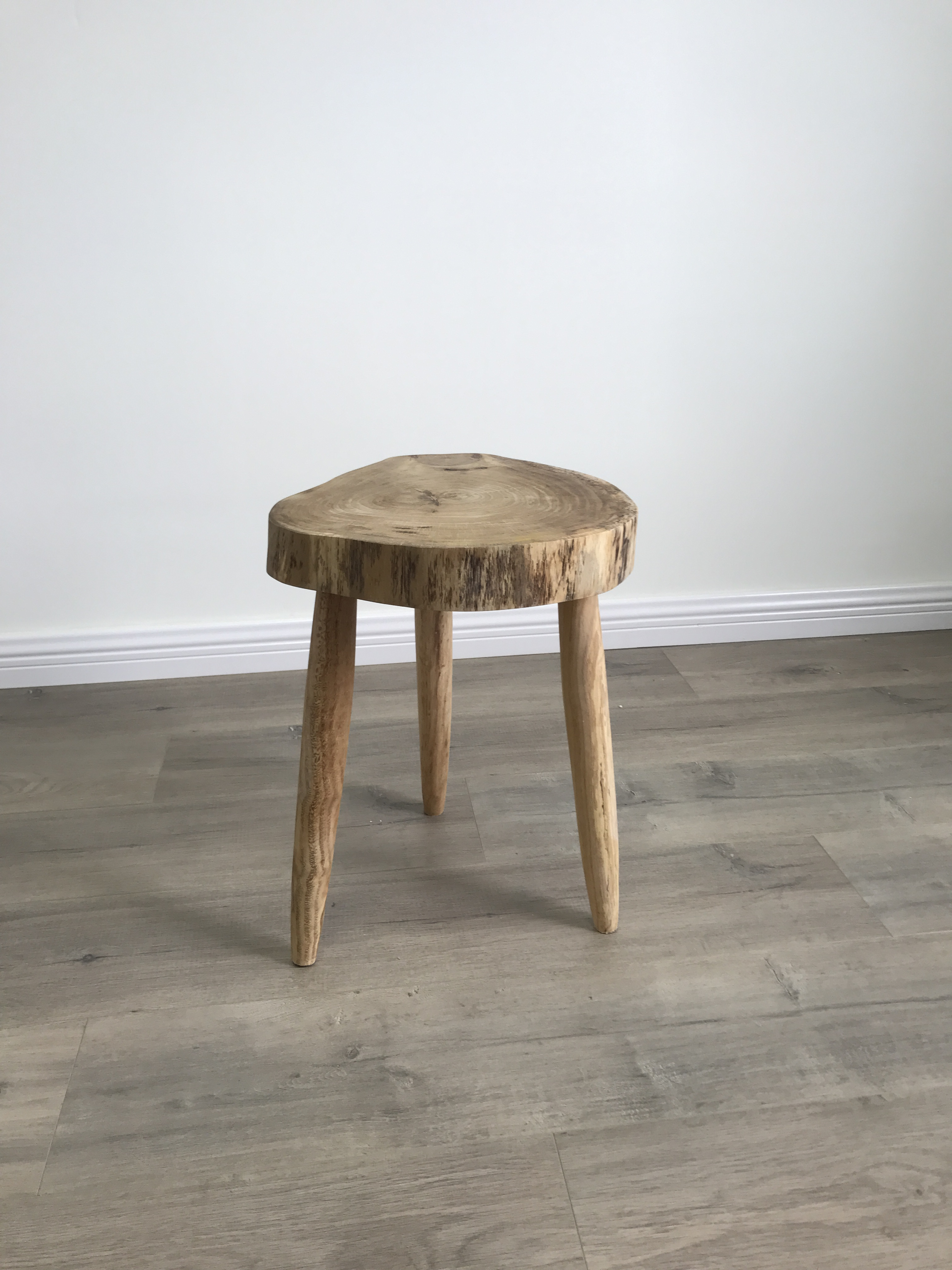 創意實木小圓桌 咖啡桌小茶几三腳凳花架床頭架擺架原生態茶几