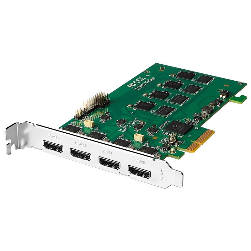 天创恒达TC542N4视频采集卡HDMI高清4路直播视频推流切换网络电脑