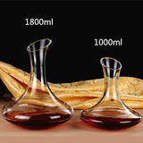 Lead-free glass decanter with wine red wine household wine dispenser personality red wine pot European style