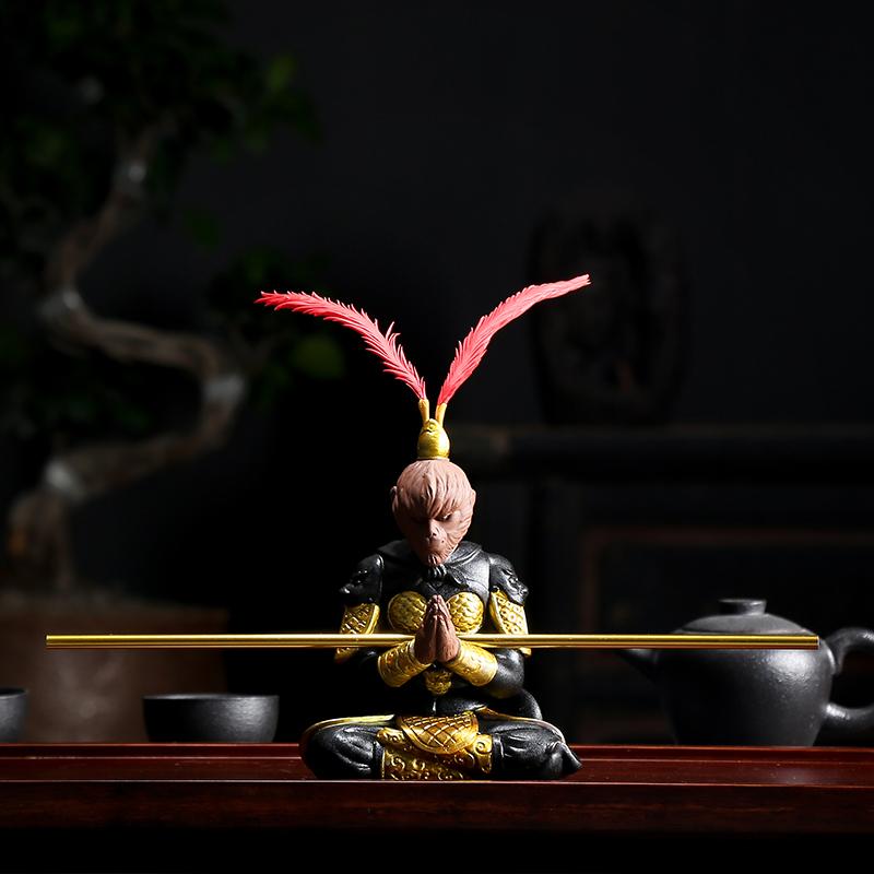 悟空摆件 紫砂茶宠猴齐天大圣功夫茶具茶道 精品斗战胜佛茶桌饰品