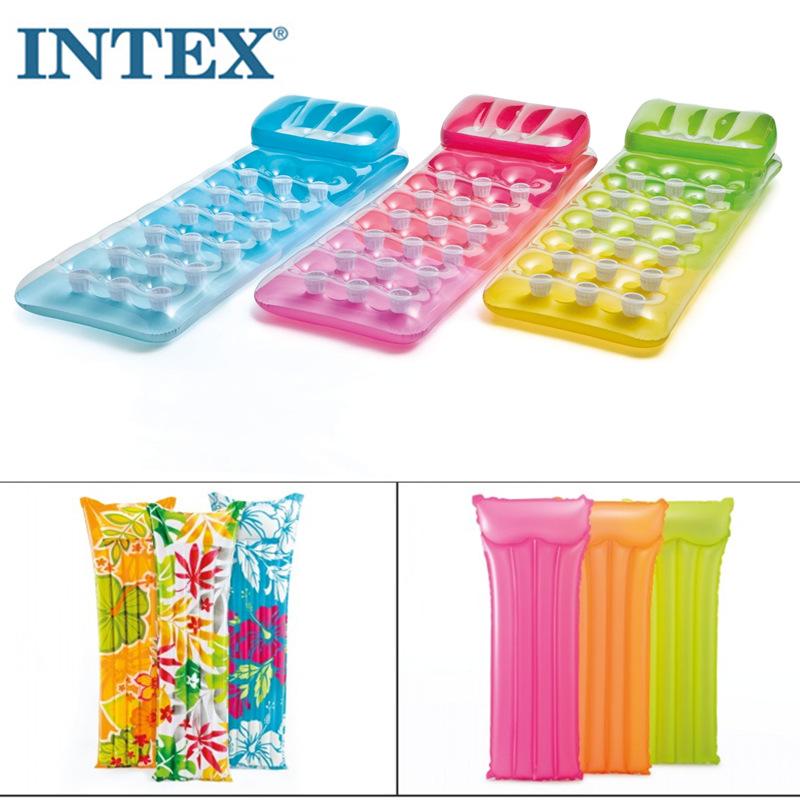 特價INTEX 59703 59720水上氣墊加厚海灘墊熒游泳用品裝備包郵