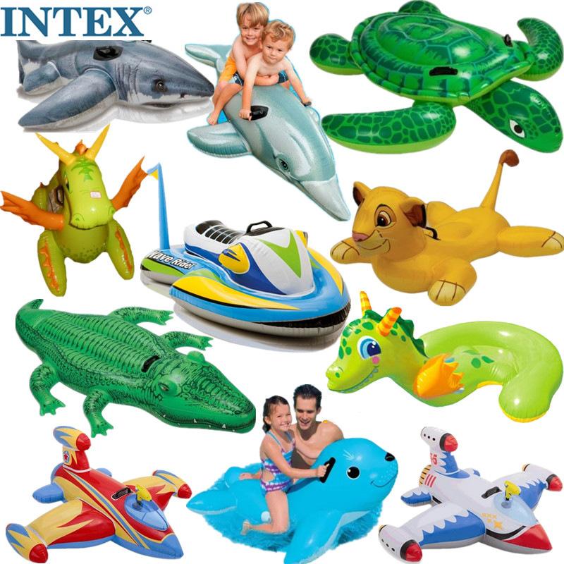 游泳圈浮排浮床衝浪兒童成人獨角獸黃鴨火烈鳥水上充氣坐騎救生圈