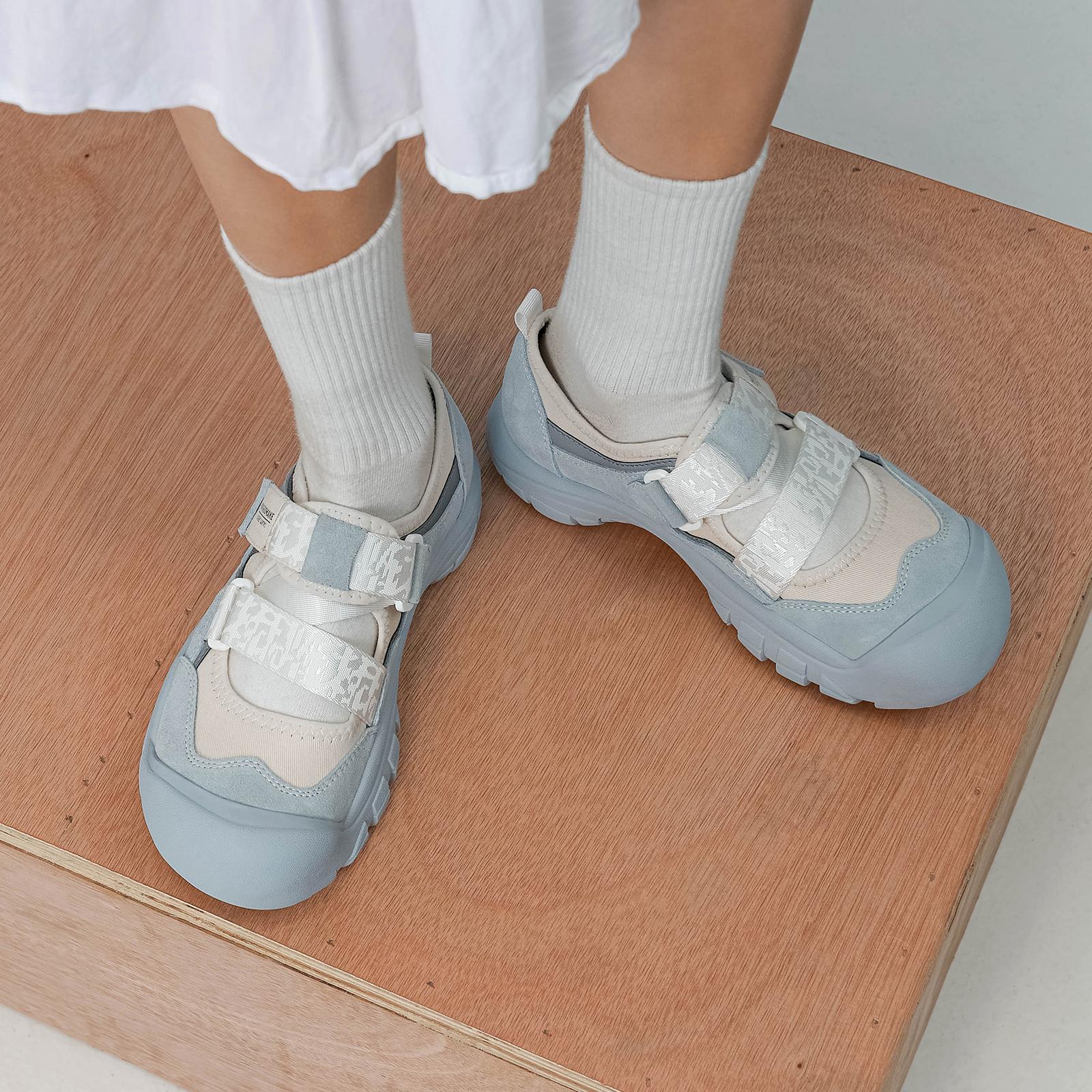 玛速主义 丑萌魔术贴老爹鞋女夏大头鞋ins潮网红休闲娃娃鞋运动鞋 No.1