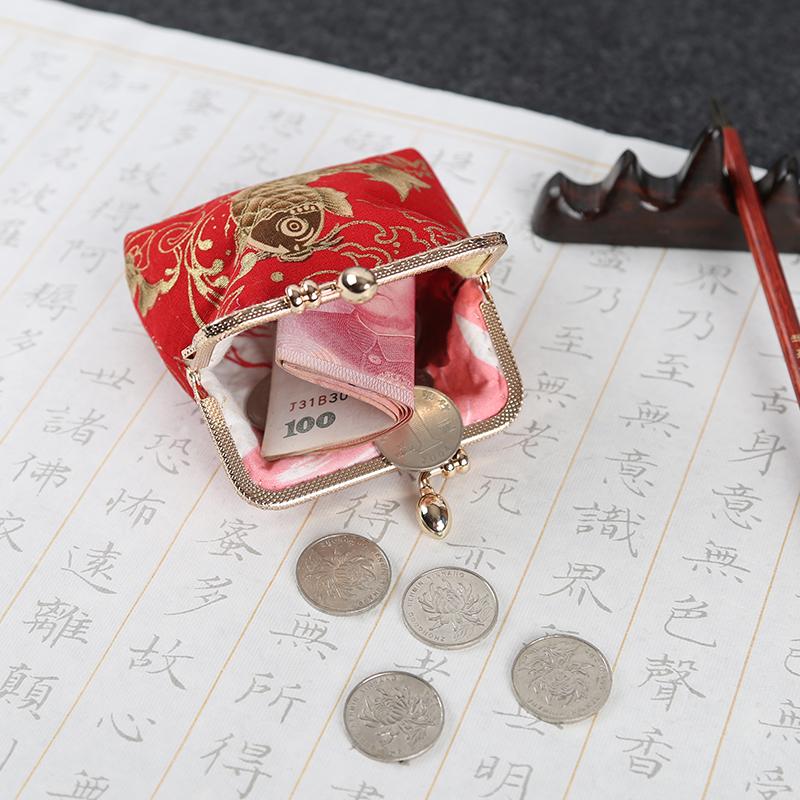 手工中国风零钱包 diy 网红同款时尚荷包袋刺绣 2019 包包女包新款