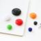 云木杂货 黑板教学白板贴彩色圆形磁扣磁贴办公学习磁铁磁吸磁粒