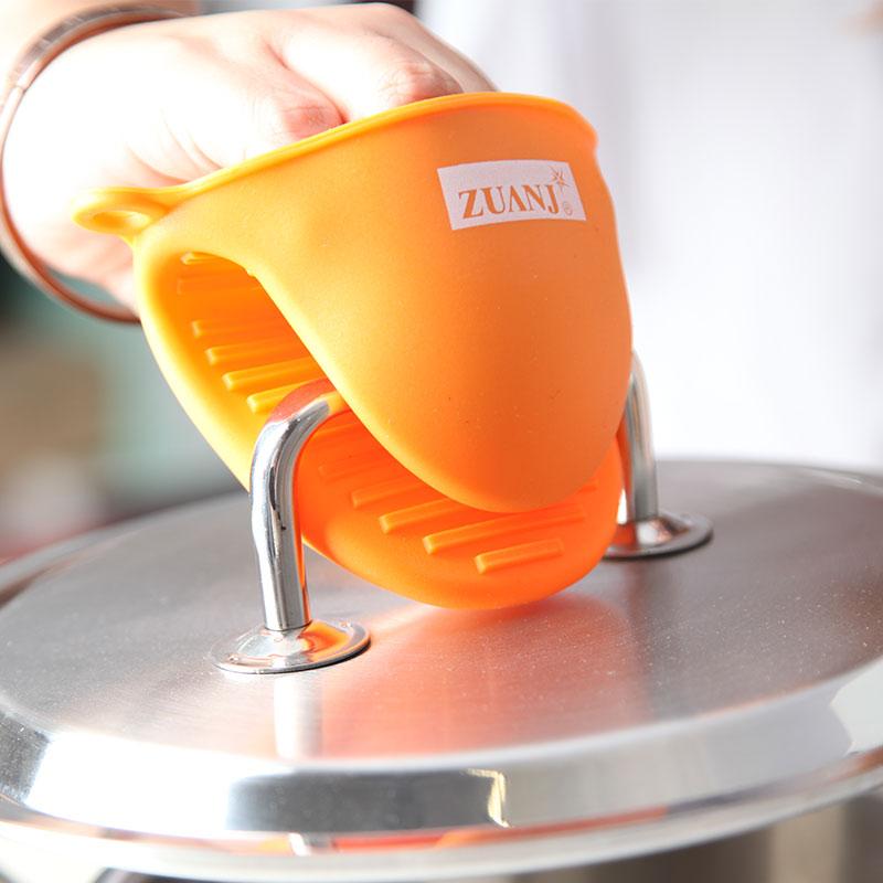 ZUANJ钻技大号硅胶隔热夹耐高温防烫防滑碗夹 微波炉隔热手套