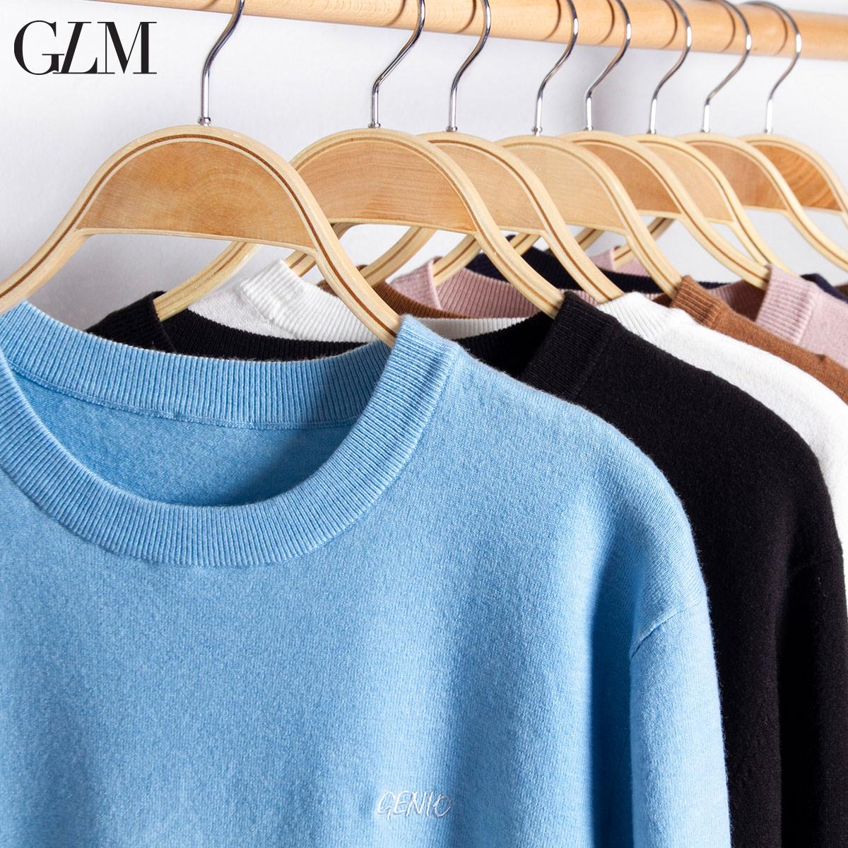 GLM男装冬季新款青年弹力罗纹毛衫针织衫时尚休闲套头衫